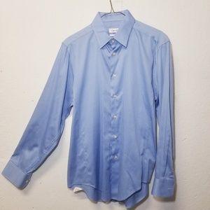 CALVIN KLEIN Blue Dress Shirt Medium